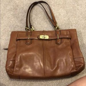 Brown leather Coach bag, very good condition.